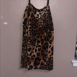 Velvet Leopard Print Dress